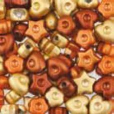 Assortie Acrylkralen 1 oranje/geel
