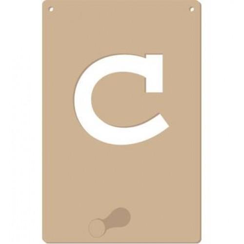 Kapstok alfabet letter C