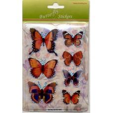 3D stickervel vlinders rood 1