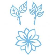 Creatable Bloem en bladeren