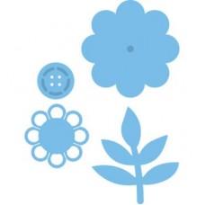Creatable Button flower