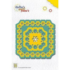 Nellies multi frames Square Snowflakes