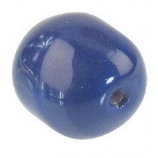 Gem pearl chrystal dark lapis 10mm