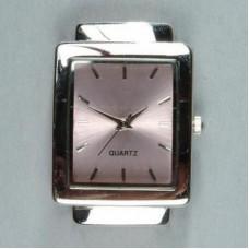 Horloge rechthoekig roze