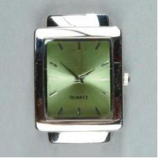 Horloge rechthoekig groen