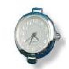 Horloge ovaal zilverkleur