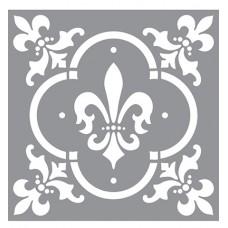 Stencil Fleur de Lis Tile