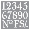 Stencil Olde World Numbers