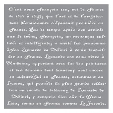 Stencil Old French Script